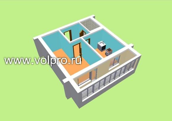 Планировка и перепланировка трехкомнатной квартиры
