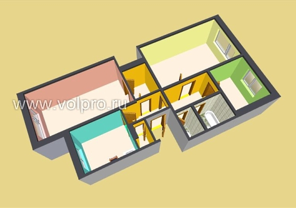Ремонт квартиры 65 кв м, ЖК , Atis