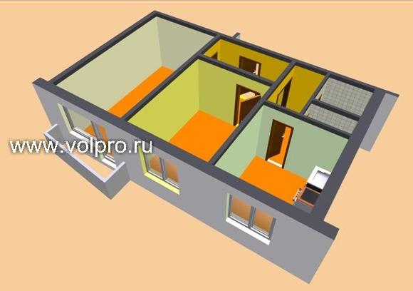 Перепланировка трехкомнатной квартиры в Москве, цены под