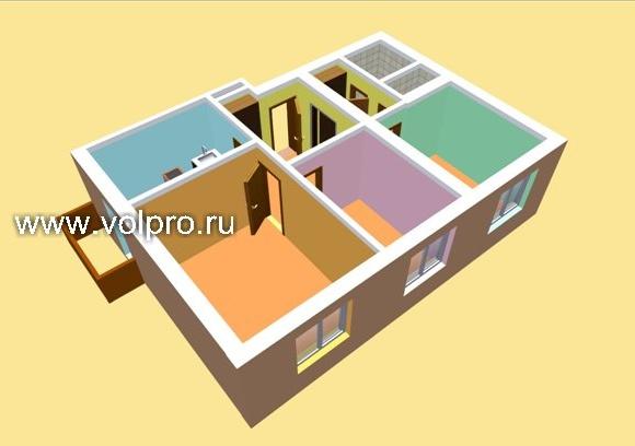 Перепланировка 4 комнатной квартиры