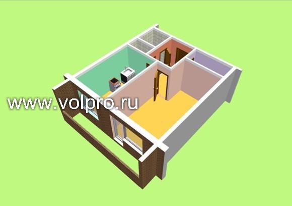 1 комнатная квартира (12-14