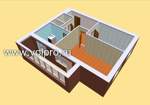 2 комнатная квартира (14