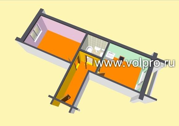 Интерьер двухкомнатной квартиры на пр есенина 76 квм